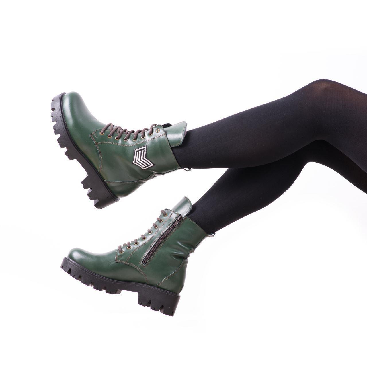 cum să cumpere proaspăt confortabil vânzare ieftină Ghete de dama T6 Verde, din Piele Naturala   Reduceri   Pret Mic ...